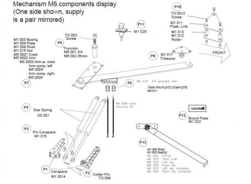 Diy Slim Twin Single Do It Yourself Mechanism Plans Drawings