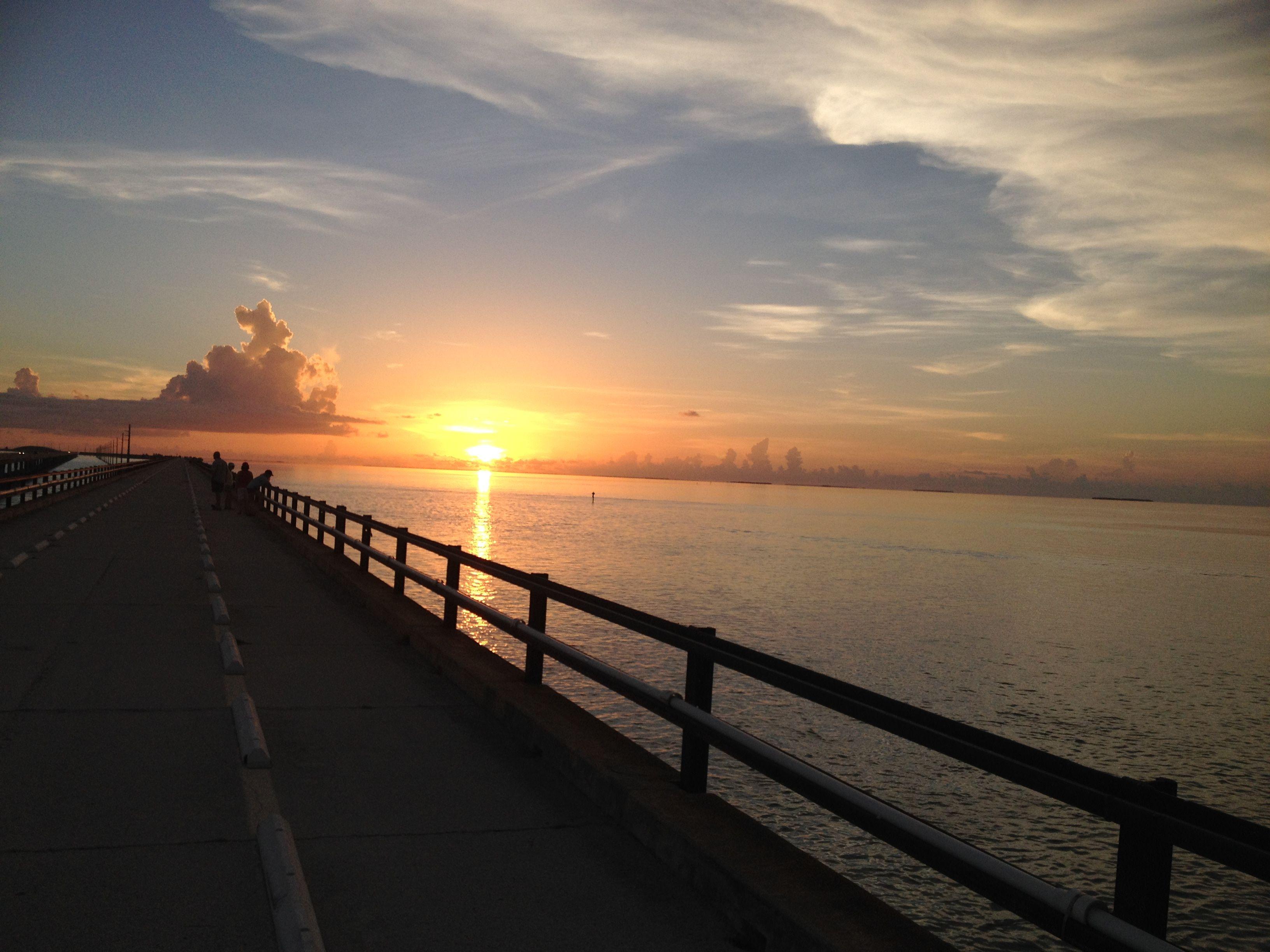 Sunset on 7 mile bridge. Marathon, FL Sunset, Vacation
