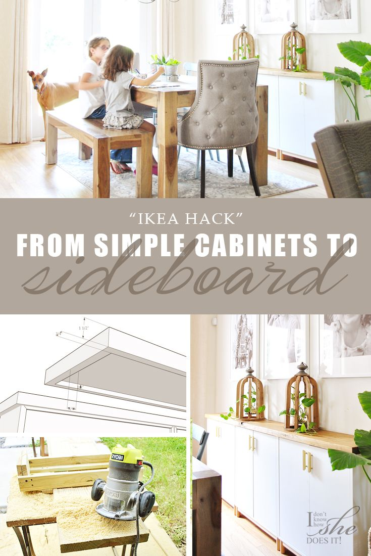 Turn Ikea Cabinets Into A Sideboard Know How She Does It Ikea