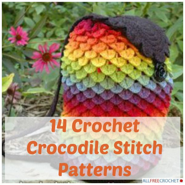 14 Crochet Crocodile Stitch Patterns | Crochet crocodile stitch ...