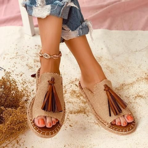 Womens Slip On Fashion Flat Summer Shoes - Pink,White
