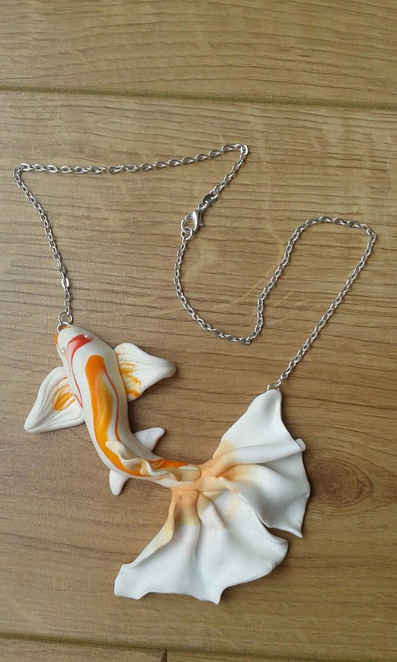 Handmade Fimo Necklace Made From Scratch No Form Used