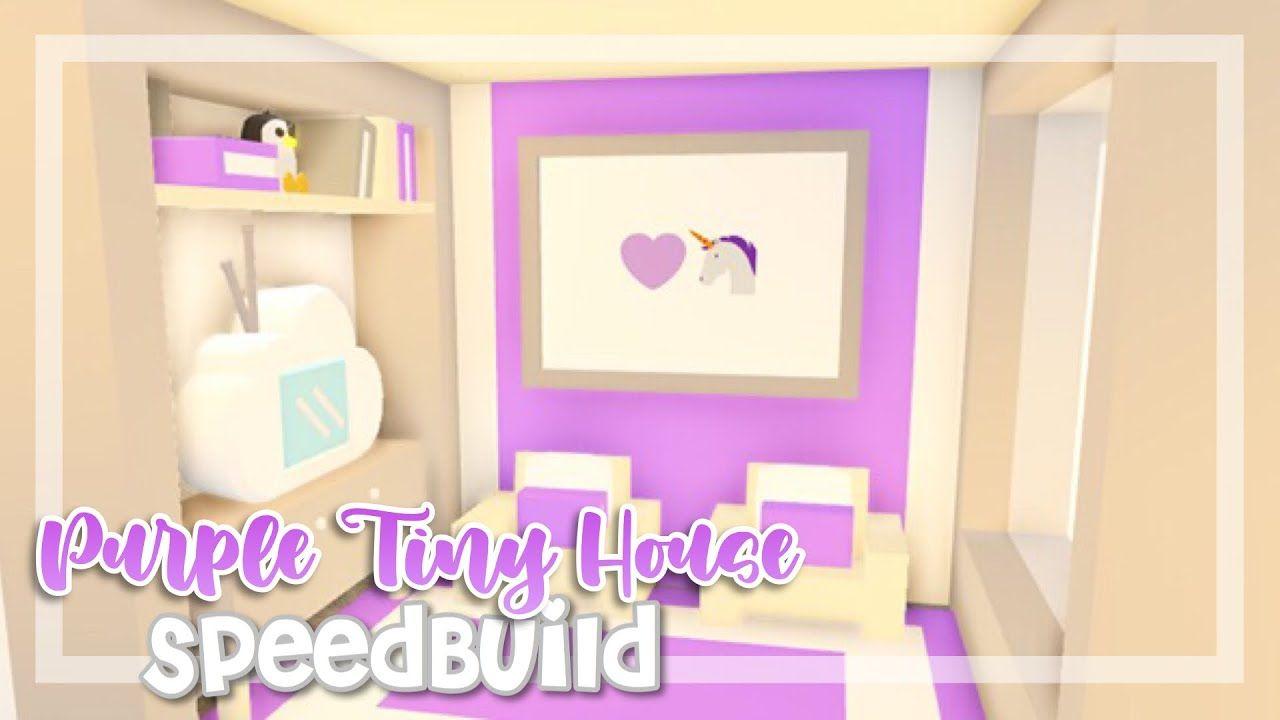 Purple Tiny House Speedbuild Adopt Me Ft Ii Clxoudyrxses Adopt Me Speedbuild Youtube Cute Room Ideas Unique House Design Room Ideas Bedroom