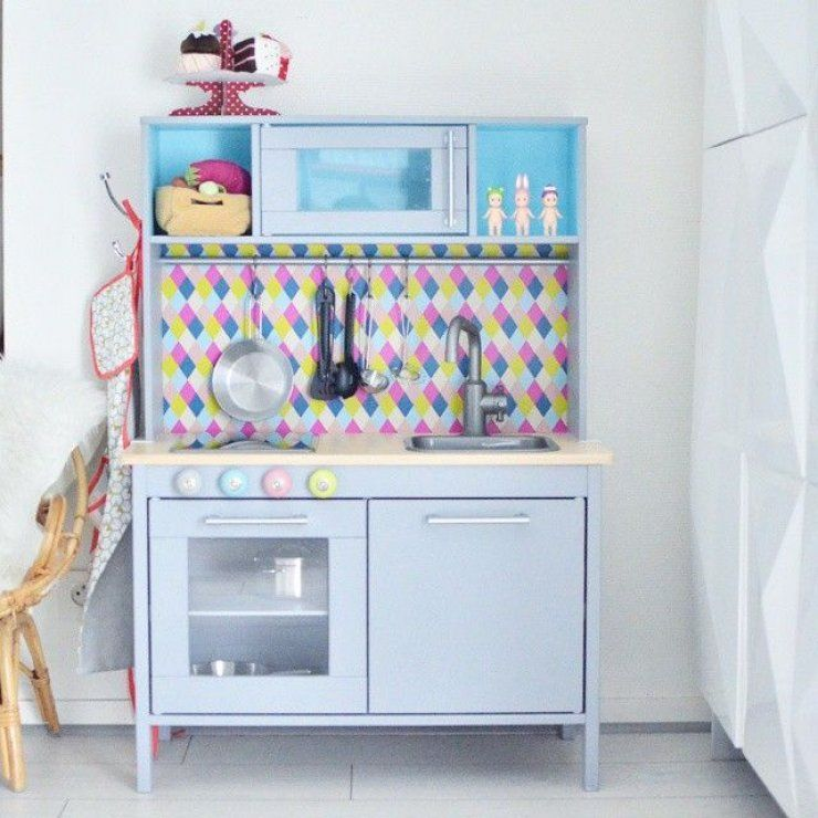 Ikea Dutkig kitchen hack | IKEA - DUKTIG Play kitchen | Pinterest ...