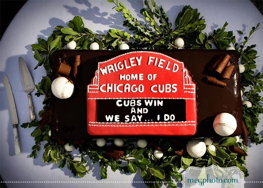 #wedding #cake #grooms cake #chicago  #chicago cubs #wrigley field #baseball