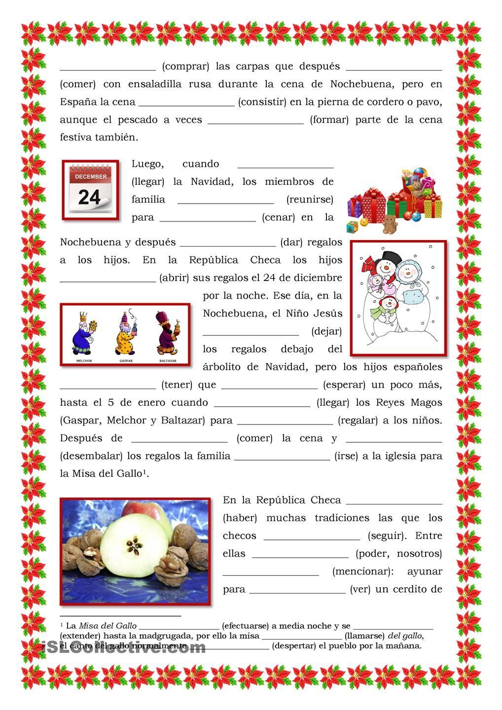 Las Vacaciones De Invierno Verbos Navidad Espagnol Apprendre