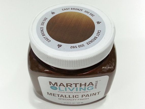 Superior Martha Stewart Living Metallic Paint   Cast Bronze 350 592   Specialty  Finish For Covering White