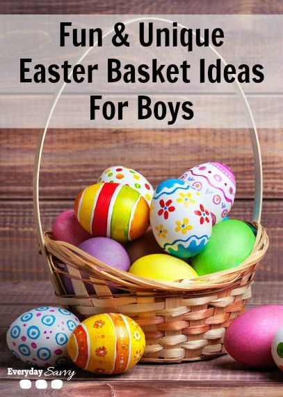 Fun unique ideas for easter baskets for boys unique easter fun unique easter basket ideas for boys negle Gallery