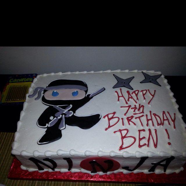 Ninja party cake | ninja party in 2019 | Ninja birthday parties ...