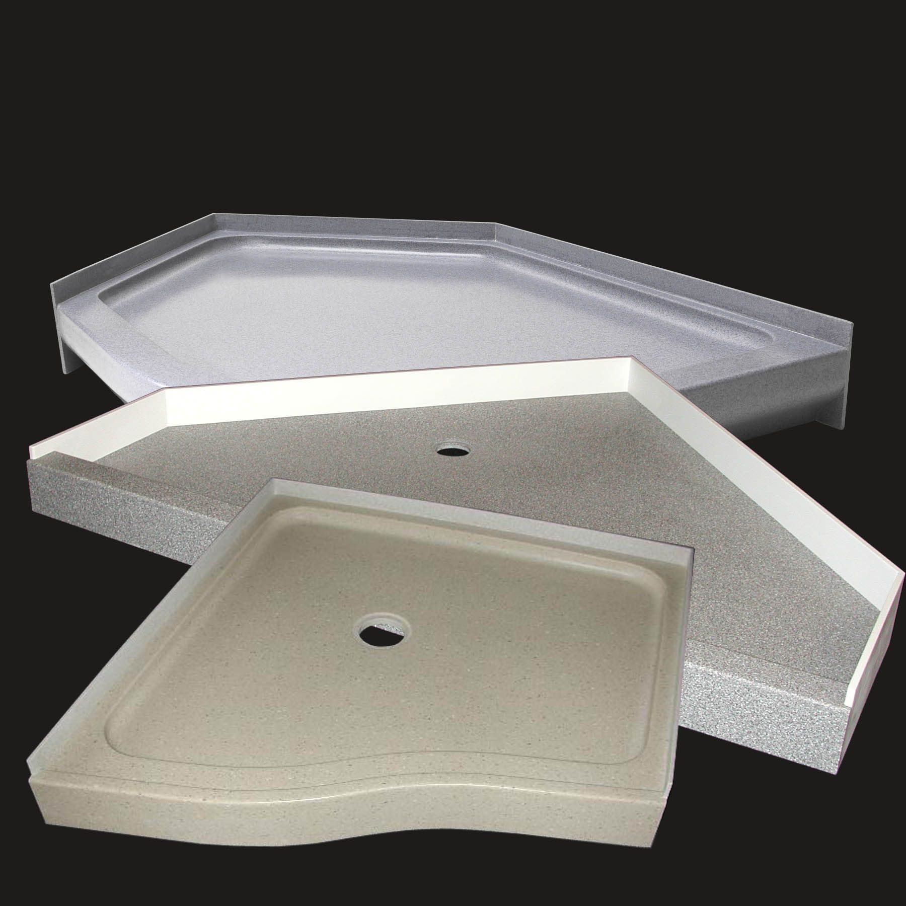 Our Shower Pans Are 100 Customizable With A Custom Drain Location