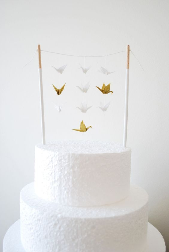 Topper Origami Figurine Gateau Cake Toppers Pinterest Origami
