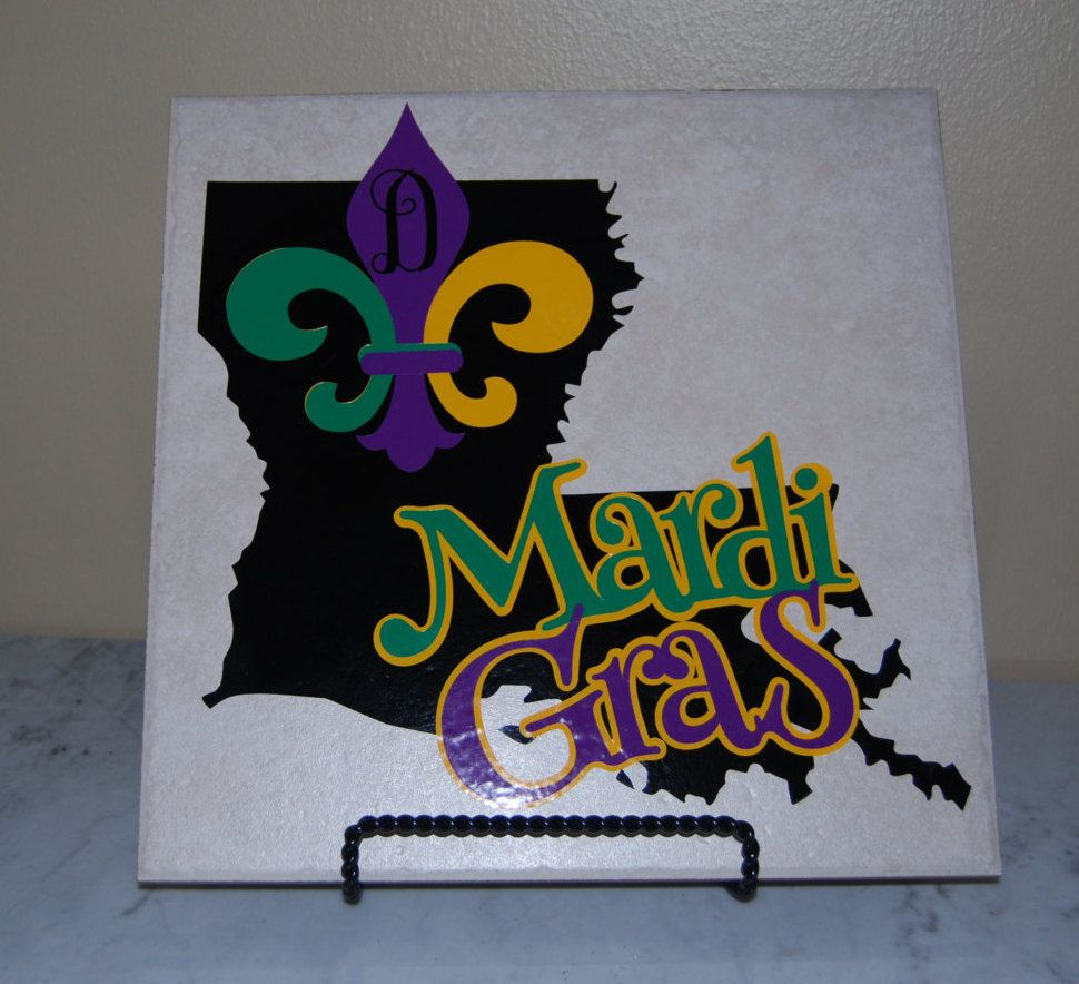 Tile Decorations Awesome Mardi Gras Tile Mardi Gras Decorations Mardi Gras Art Review