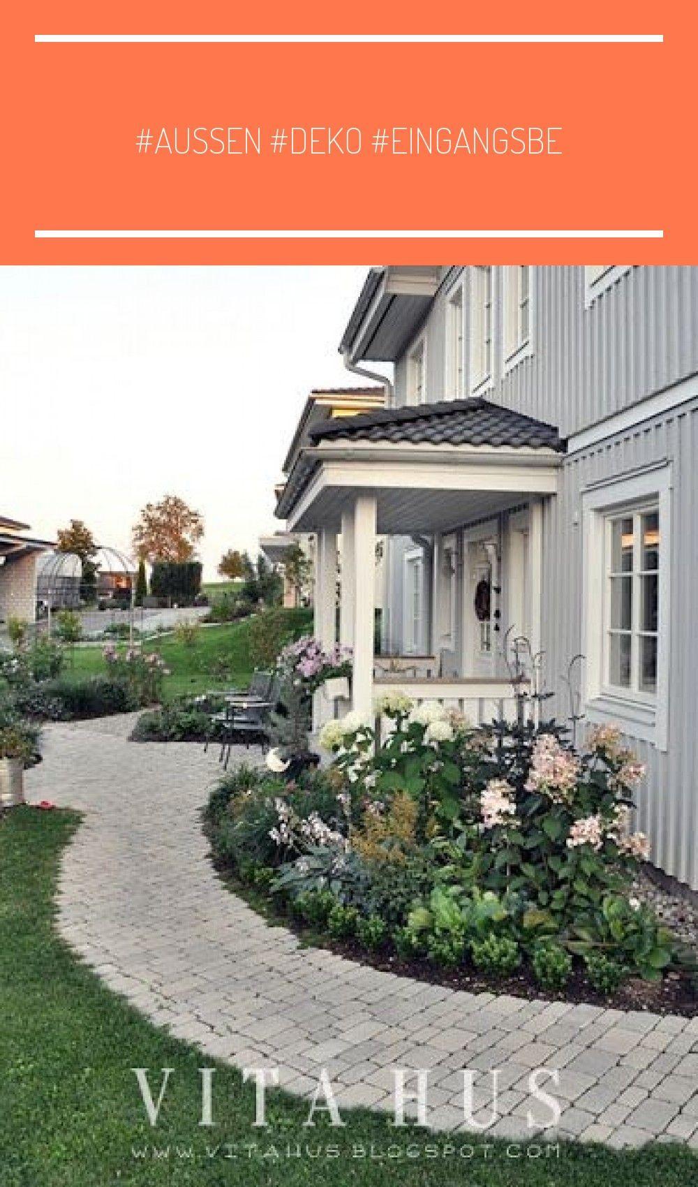 Aussen Deko Eingangsbe In 2020 Outdoor Decor Outdoor House