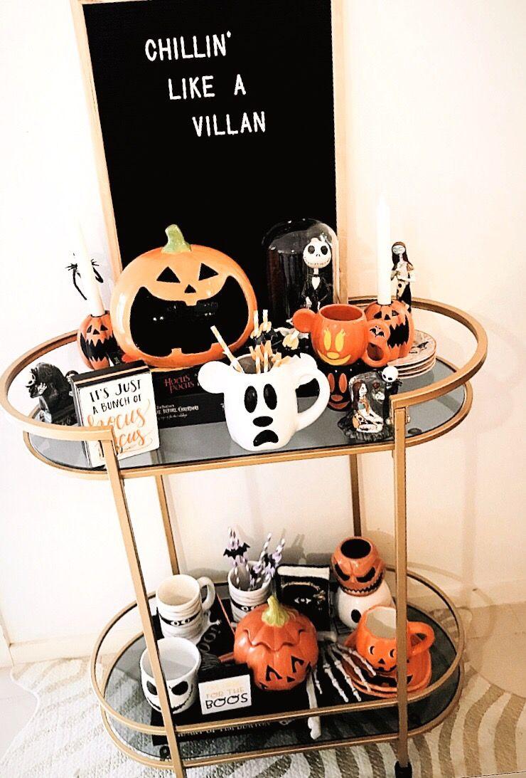Halloween Time Disney Halloween Decorations Fall Halloween Decor Halloween Bar