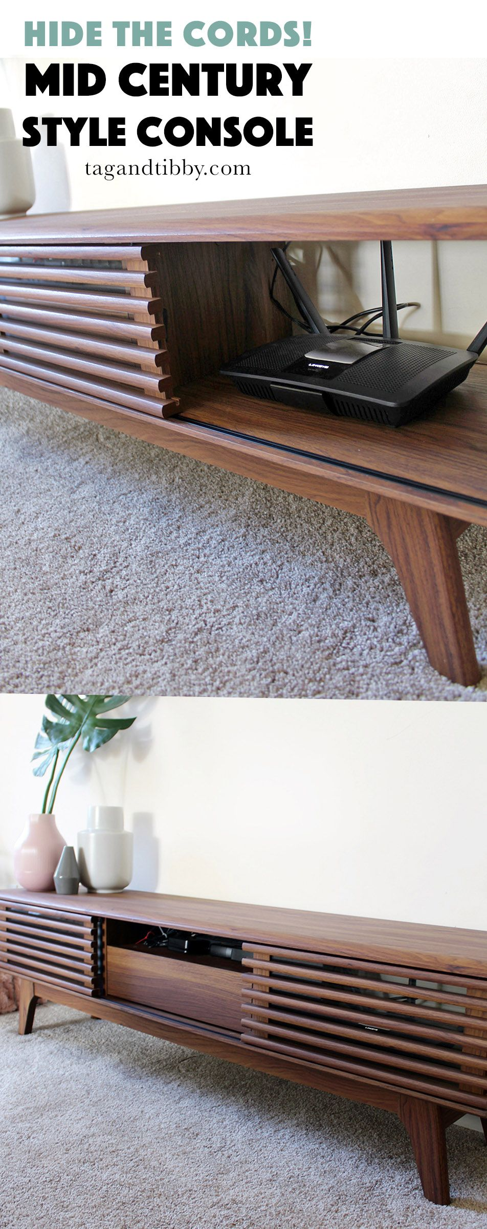 One Way to Hide Wires in a Living Room — Tag & Tibby ...