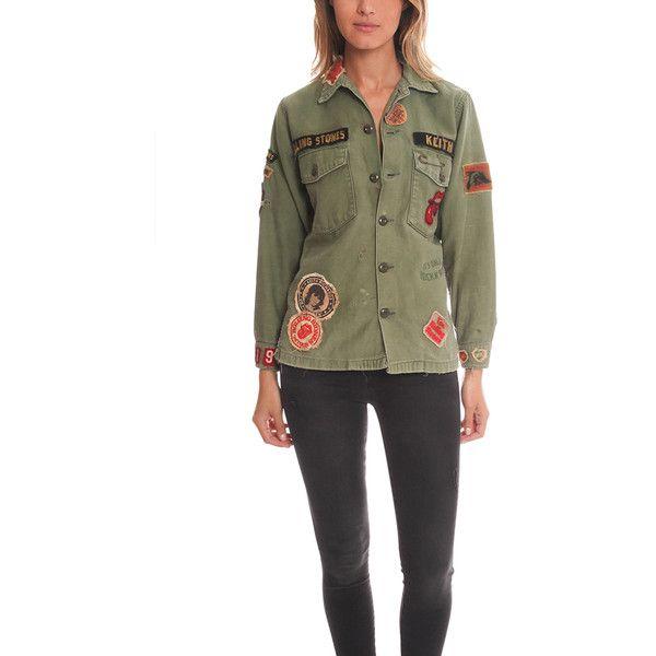 Madeworn Rolling Stones Army Jacket Army Jacket Women Army Jacket Vintage Military Jacket
