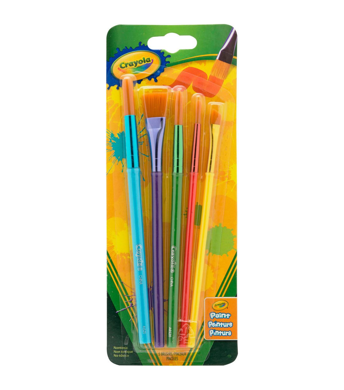 Crayola 5 Ct Art Craft Brush Set Paint Brushes Crayola Art