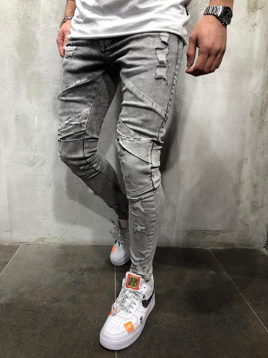 Gray Ripped&Repaired Jeans is part of Repair jeans -  PRODUCT DESCRIPTION Sure to be one of your favorites, our pants are the missing component that you were looking for to add to your everyday style collection  This is a blend of street and modern fashion  We encourage you to get it today before it's sold out and you will have to wait 5 weeks before we restock the in