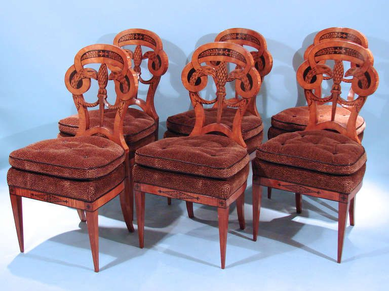 Four Empire Russian Side Chairs Plus 6 Later Copies | From a unique collection of antique and modern chairs at http://www.1stdibs.com/furniture/seating/chairs/