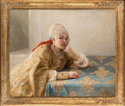 """Boyarina"" by Klavdi Lebedev (1903)"