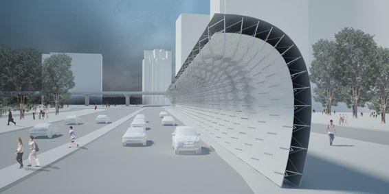 Hong Kong Noise Barrier Proposal By Francesco Lipari Noise Barrier Acoustic Barrier Sound Barrier