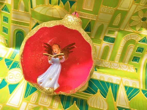 Vintage Diorama Christmas Ornament Angel Collection von ToBeJolly auf Etsy
