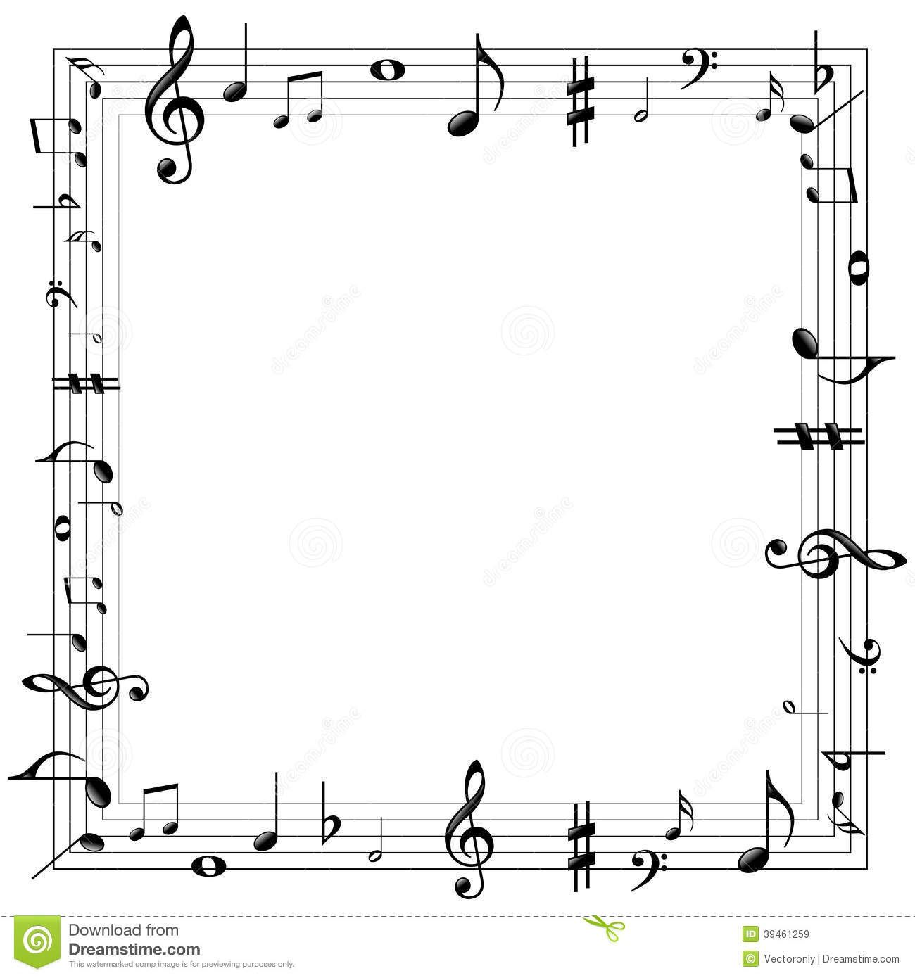 Music Notes Border Stock Vector Image: 39461259 - 1300x1390 - jpeg ...