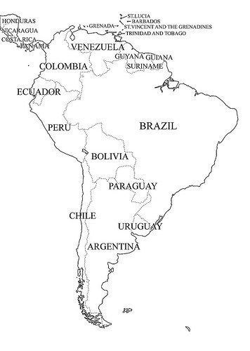 Mapa De Sudamérica Para Colorear Dibujos E Imágenes De América Del Sur Para Niños Teaching Geography World Geography Map Geography Map