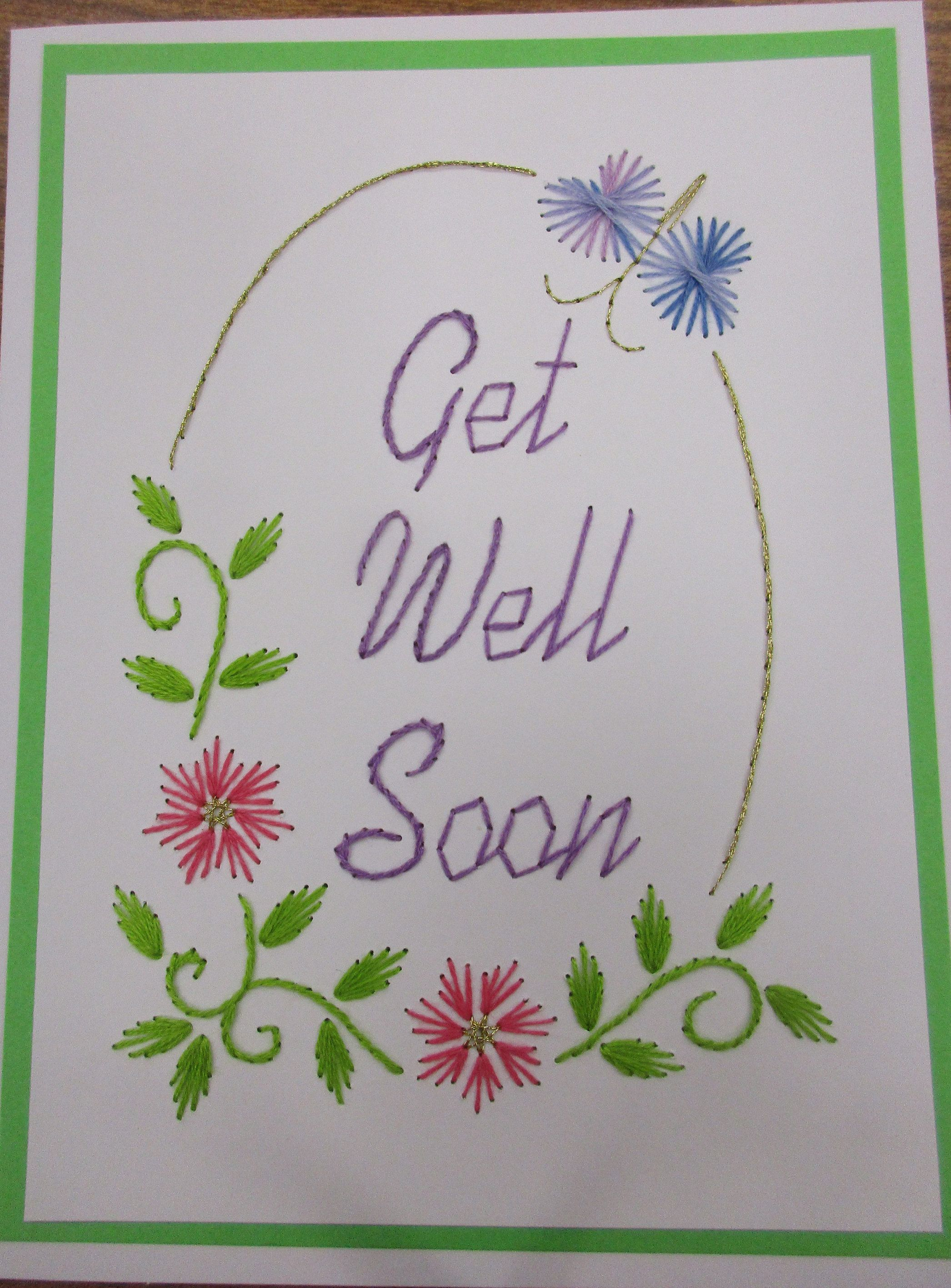 Calmly Embroidered Floral Get Well Card By Reneespixiedust On Etsy Embroidered Floral Get Well Card By Reneespixiedust On Etsy Get Well Cards To Make Get Well Cards Sayings cards Get Well Cards