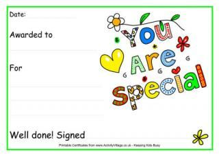 You are special award certificate certificates pinterest you are special award certificate yelopaper Gallery