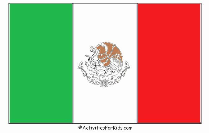 Mexican Flag Coloring Page Beautiful Mexican Flag Coloring Page Cinco De Mayo Craft In 2020 Flag Coloring Pages Mexican Flag Colors Flag Printable