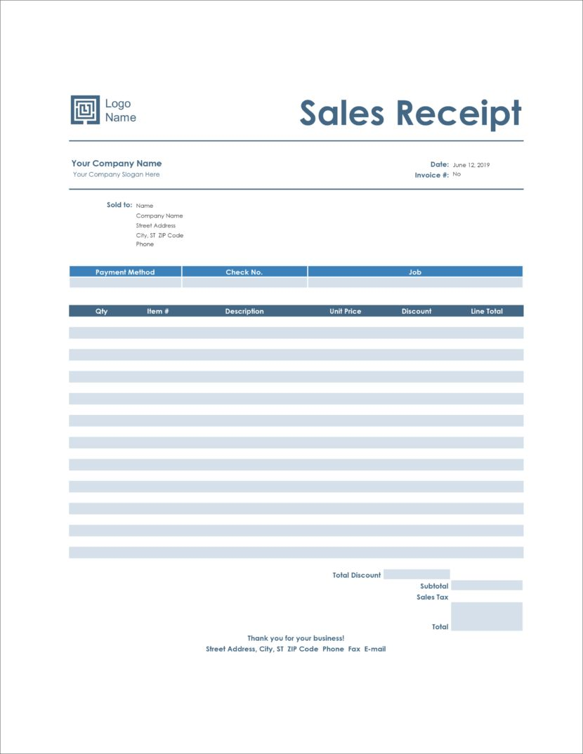 Sales Receipt Template Free Pdf Excel Word Template Net Receipt Template Business Organization Printables Things To Sell