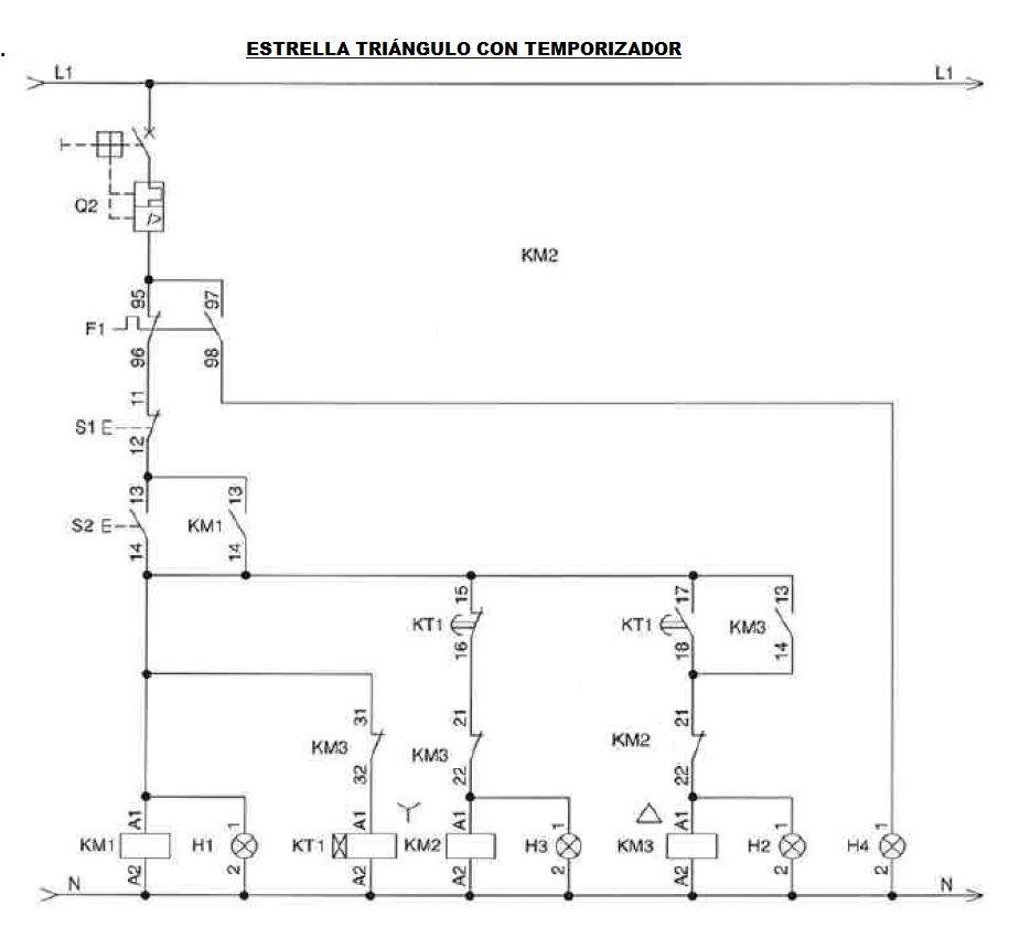 Arranque Estrella Triangulo Varios Circuitos Motores Trifásicos Motor Trifasico Diagrama De Circuito Eléctrico Diagrama De Instalacion Electrica