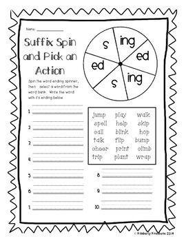 Suffix - Word Ending (-s, -es) (-s, -ed, -ing) (-er, -est) | Free ...