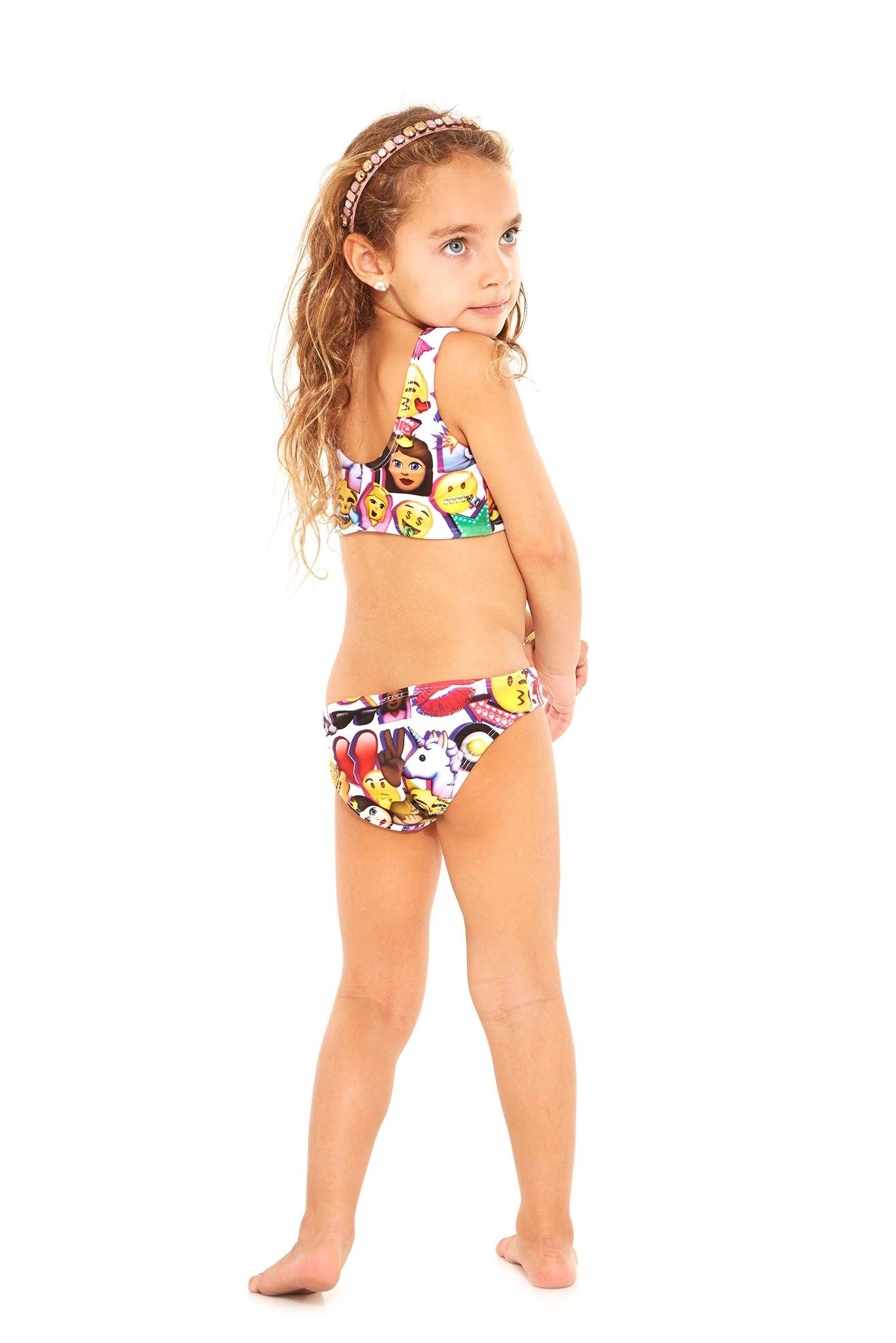 d5a8a02570cc1 Terez Kids 100% Emoji Sports Bra Bikini - 2 | Products | Sports bra ...