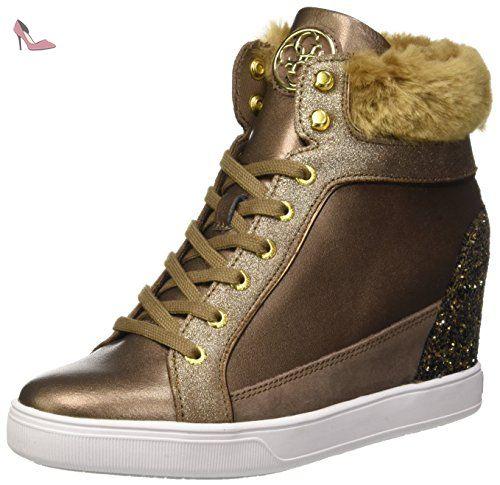 5acc992407b93 Guess Furr, Chaussures de Gymnastique Femme, Marron (Bronz), 41 EU ...
