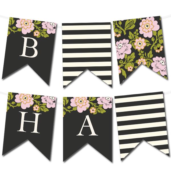 Whimsical Botanical Banner | Free printable