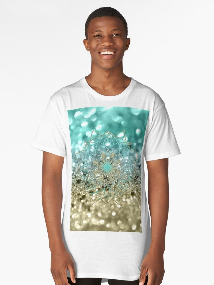 Star Mandala On Lemon Twist Beach Glitter 4 Shiny Decor Art