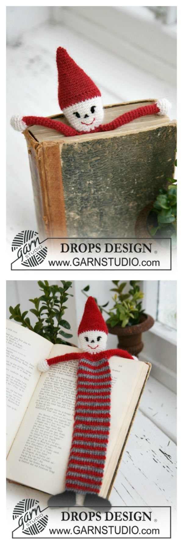 Adorable Santa Bookmark Free Crochet Pattern