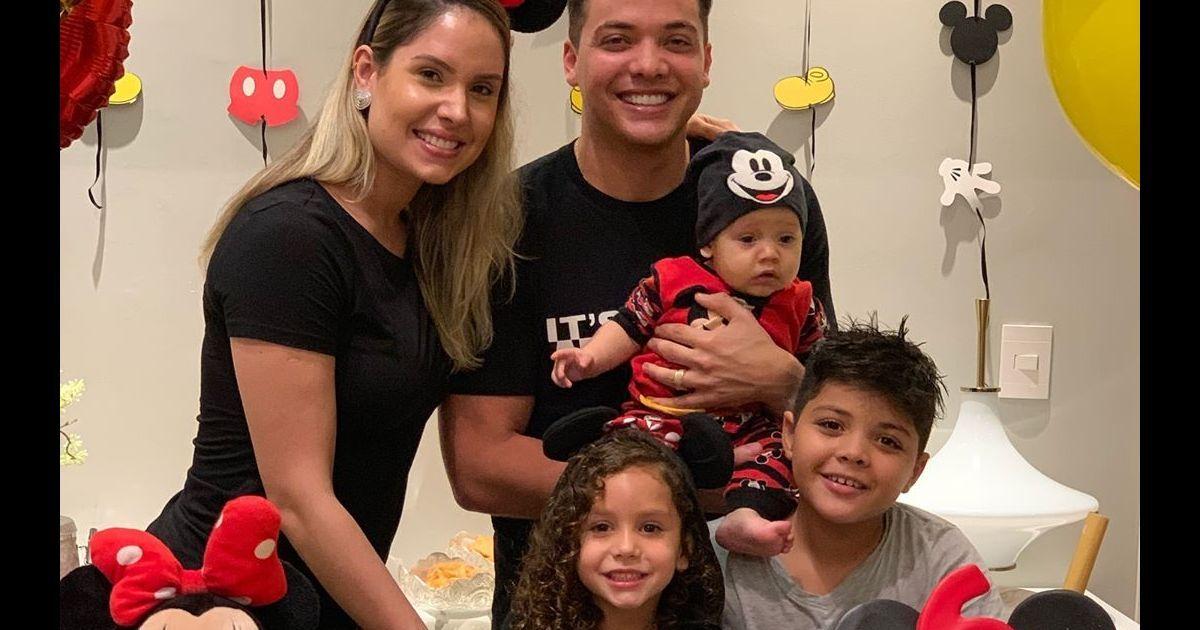 321b19c0e Filho de Wesley Safadão e Thyane Dantas ganha festa inspirada no Mickey: '6  meses