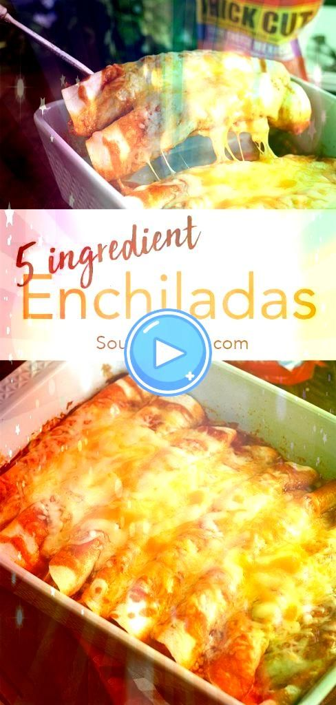 Ingredient Beef Enchiladas These quick and easy enchiladas only call for 5 ingredients and are ready in no time Its the perfect recipe for a busy weeknight5 Ingredient Be...