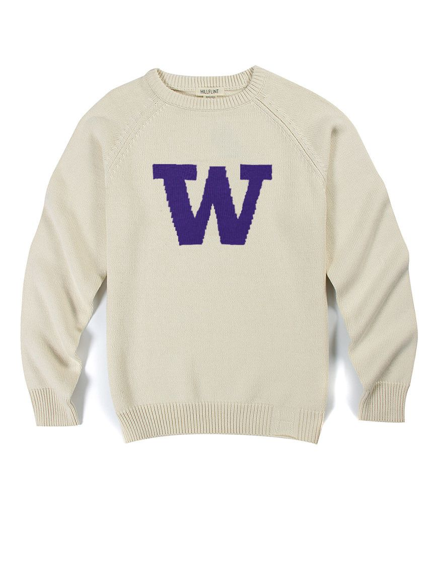bd2603b91a5f7 Cotton University of Washington Heritage Sweater (Creme) - Hillflint |  Luxury Sweaters | Collegiate Apparel
