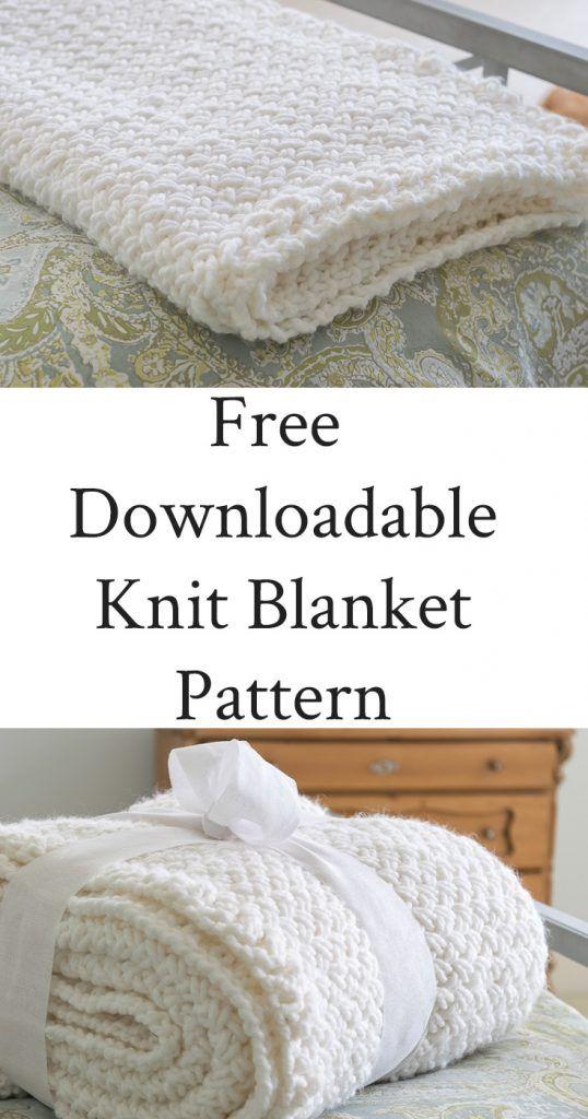 DIY Knit Blanket with Diagonal Basketweave Stitch   Knit   Pinterest ...