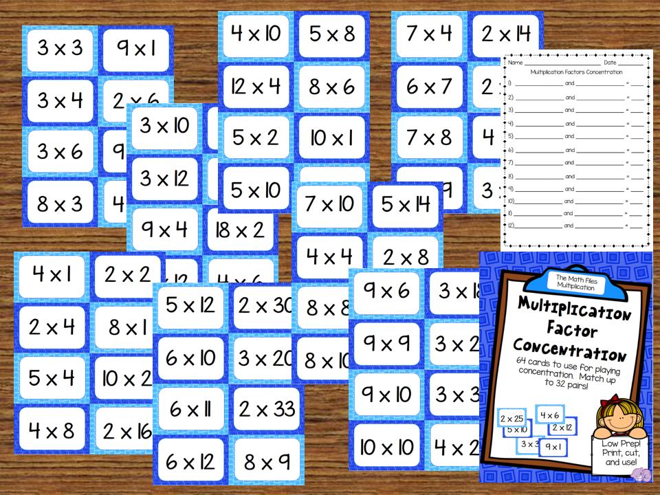 Multiplication Factor Concentration Freebie