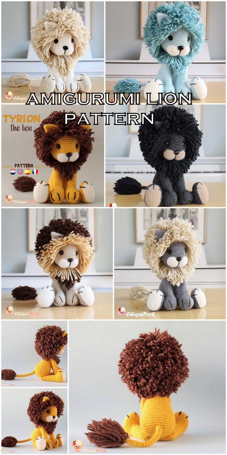 Lion Crochet PATTERN Amigurumi patterns pdf tutorial - TYRION the ... | 1536x768