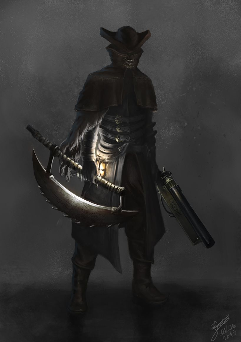 Bloodborne POSTER//Bloodborne Hunter//Bloodborne weapon merchandise