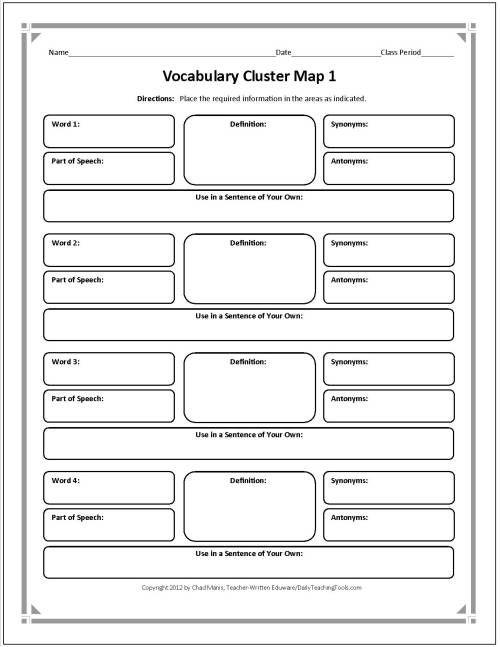 Graphic Organizers for Teachers Grades (K-12) - TeacherVision