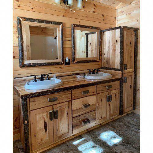 Real Hickory Rustic Bathroom Vanity 24 - 42