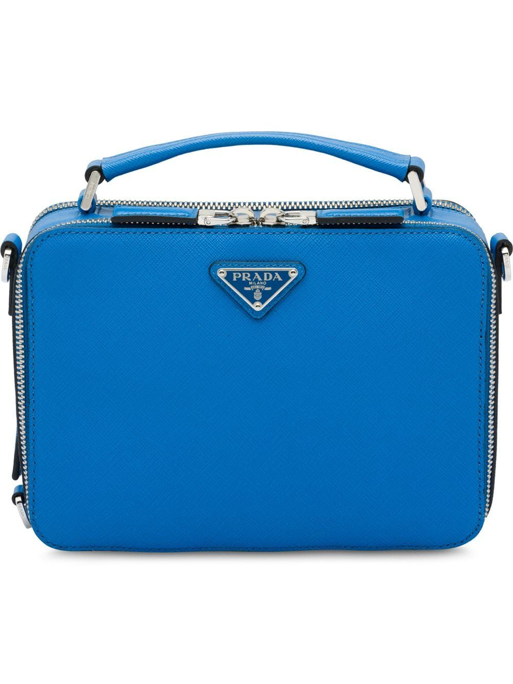 69122cfb0063 PRADA PRADA SAFFIANO LEATHER SHOULDER BAG - BLUE.  prada  bags  shoulder  bags  hand bags  leather