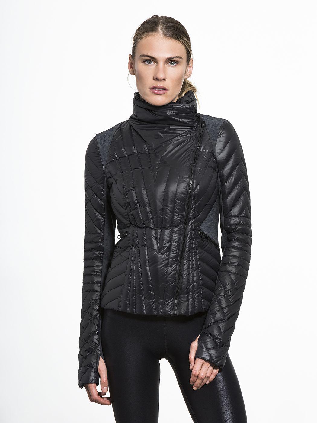 Blanc Noir Motion Panel Puffer Sports Attire Jackets Activewear Fashion [ 1400 x 1050 Pixel ]
